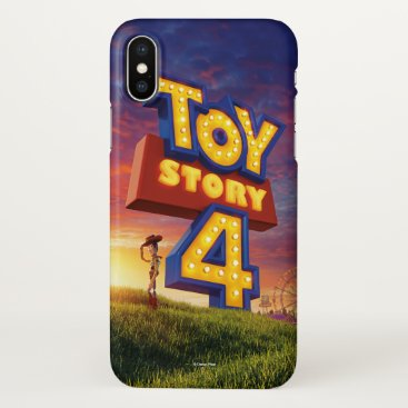 Toy Story 4   Woody On Field Theatrical Poster iPhone X Case