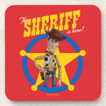 "Toy Story 4 | Woody ""The Sheriff Is Here"" Beverage Coaster"