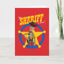 "Toy Story 4 | Woody ""The Sheriff Is Here"" Card"