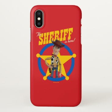 "Toy Story 4 | Woody ""The Sheriff Is Here"" iPhone X Case"