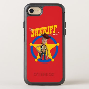 """Toy Story 4   Woody """"The Sheriff Is Here"""" OtterBox Symmetry iPhone 8/7 Case"""