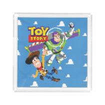 Toy Story 8Bit Woody and Buzz Lightyear Acrylic Tray