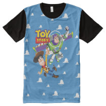 Toy Story 8Bit Woody and Buzz Lightyear All-Over-Print T-Shirt