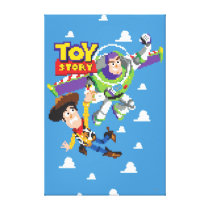 Toy Story 8Bit Woody and Buzz Lightyear Canvas Print