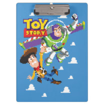 Toy Story 8Bit Woody and Buzz Lightyear Clipboard