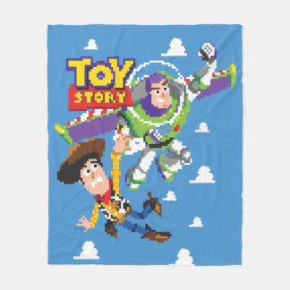 Toy Story 8Bit Woody and Buzz Lightyear Fleece Blanket