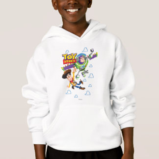 Toy Story 8Bit Woody and Buzz Lightyear Hoodie