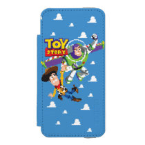 Toy Story 8Bit Woody and Buzz Lightyear iPhone SE/5/5s Wallet Case