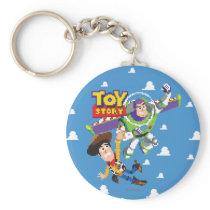 Toy Story 8Bit Woody and Buzz Lightyear Keychain