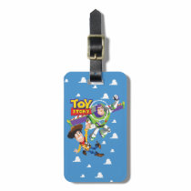 Toy Story 8Bit Woody and Buzz Lightyear Luggage Tag
