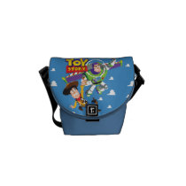 Toy Story 8Bit Woody and Buzz Lightyear Messenger Bag