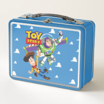 Toy Story 8Bit Woody and Buzz Lightyear Metal Lunch Box