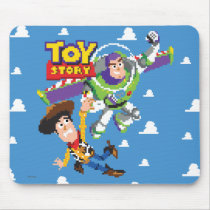 Toy Story 8Bit Woody and Buzz Lightyear Mouse Pad