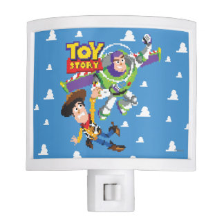 Toy Story 8Bit Woody and Buzz Lightyear Night Light