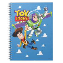 Toy Story 8Bit Woody and Buzz Lightyear Notebook