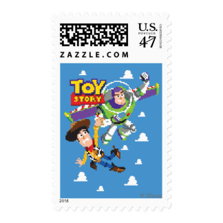 Toy Story 8Bit Woody and Buzz Lightyear Postage