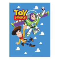 Toy Story 8Bit Woody and Buzz Lightyear Postcard