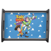 Toy Story 8Bit Woody and Buzz Lightyear Serving Tray