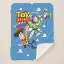 Toy Story 8Bit Woody and Buzz Lightyear Sherpa Blanket
