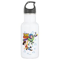 Toy Story 8Bit Woody and Buzz Lightyear Stainless Steel Water Bottle