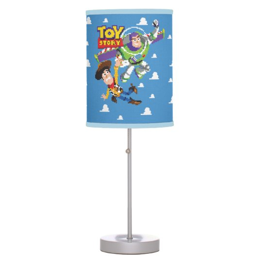 Toy Story 8bit Woody And Buzz Lightyear Table Lamp