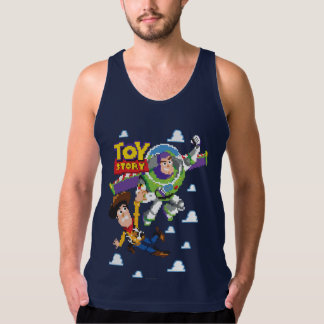 Toy Story 8Bit Woody and Buzz Lightyear Tank Top