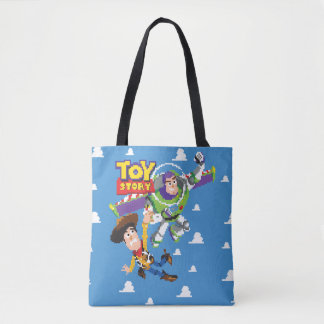 Toy Story 8Bit Woody and Buzz Lightyear Tote Bag