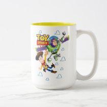 Toy Story 8Bit Woody and Buzz Lightyear Two-Tone Coffee Mug