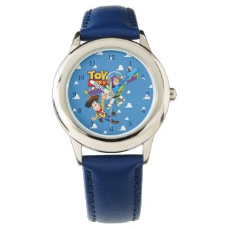 Toy Story 8Bit Woody and Buzz Lightyear Wrist Watches