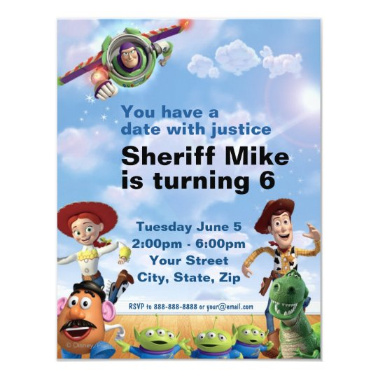 Toy story birthday invitation zazzle for Toy story invites templates free