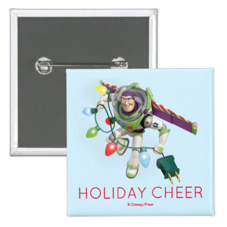 Toy Story   Buzz Lightyear Decorating Christmas Pinback Button