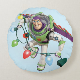 Toy Story   Buzz Lightyear Decorating Christmas Round Pillow