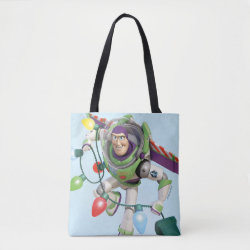 All-Over-Print Tote Bag, Medium with Disney Christmas Ornaments design