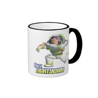 Toy Story Buzz Lightyear Preparing to Fire Ringer Mug