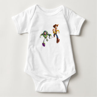 Toy Story Buzz Lightyear Woody running Baby Bodysuit