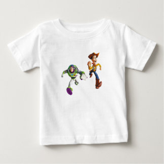 Toy Story Buzz Lightyear Woody running Baby T-Shirt