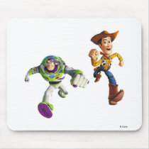 Toy Story Buzz Lightyear Woody running Mouse Pad