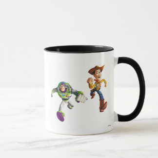 Toy Story Buzz Lightyear Woody running Mug
