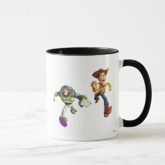Toy Story Buzz Lightyear Woody running Mug
