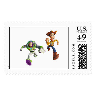 Toy Story Buzz Lightyear Woody running Postage