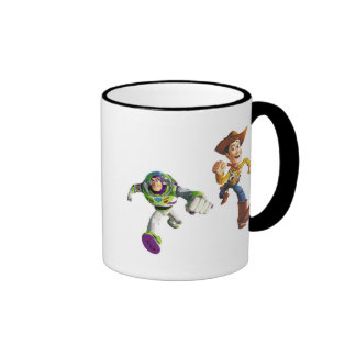 Toy Story Buzz Lightyear Woody running Ringer Mug