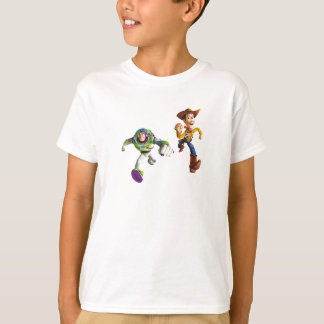 Toy Story Buzz Lightyear Woody running T-Shirt