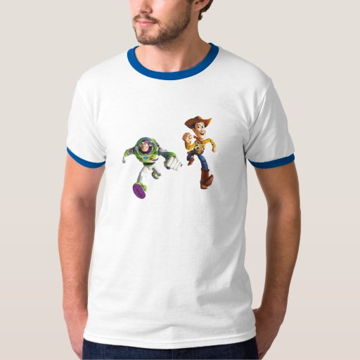 Toy Story Buzz Lightyear Woody running Tees