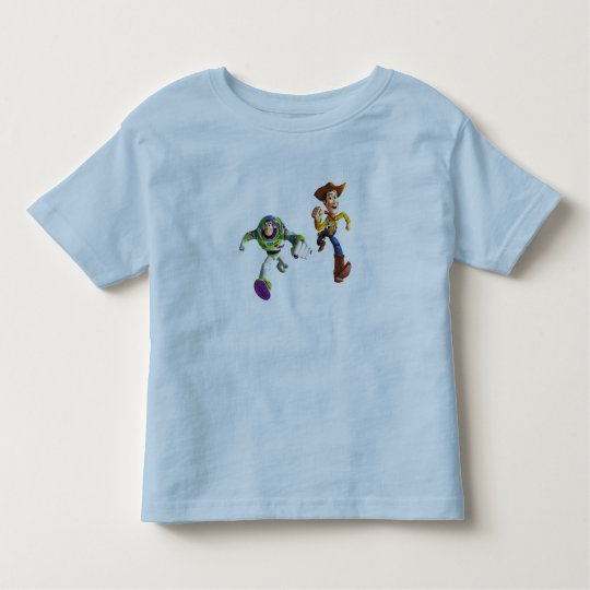 Toy Story Buzz Lightyear Woody running Toddler T-shirt