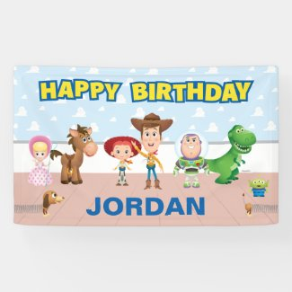 Toy Story Character Birthday Banner