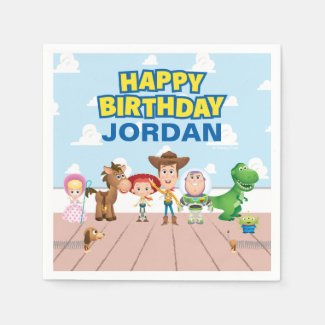Toy Story Character Birthday Napkins