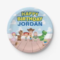 Toy Story Character Birthday Paper Plate