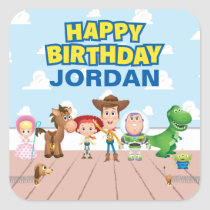Toy Story Character Birthday Square Sticker