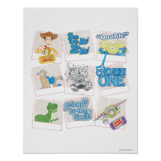 Toy Story Collage polaroid de la imagen Posters