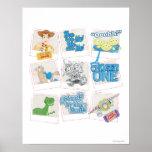 Toy Story: Collage polaroid de la imagen Póster